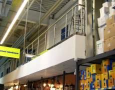 Ограждение в супермаркете