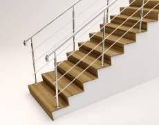 Перила с двух сторон лестницы